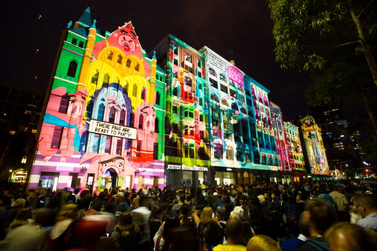 'Fractured Fairytales' along Flinders Street