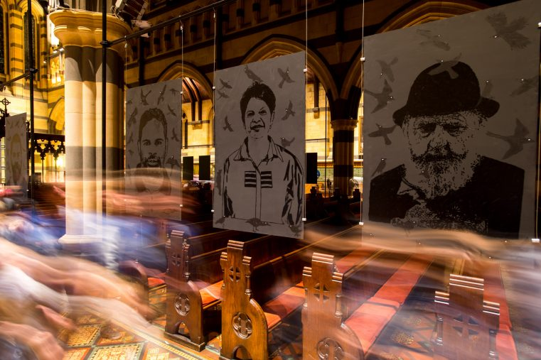 'blackface (realface): Indigenous Faces of Ballarat' in St Paul's Cathedral